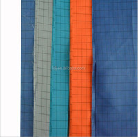 Hot selling product F290 stripe polyester carbon fiber Anti-static conductive fabric