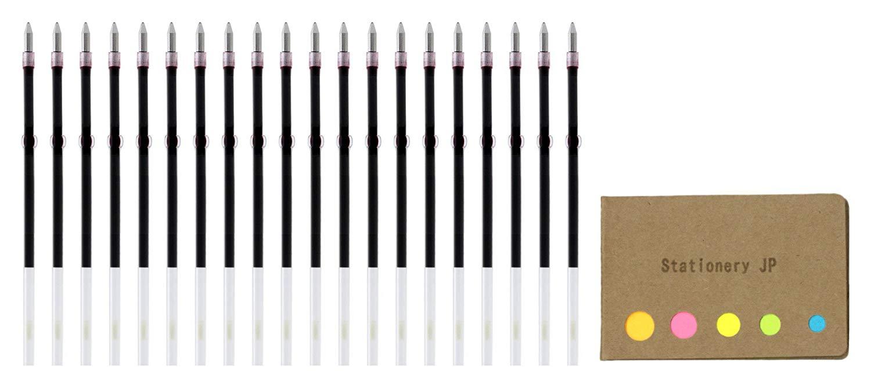 Zebra Ballpoint Pen Refills for Clip On Multi Pen, SK-0.7, Fine Point 0.7mm, Red Ink, 20-pack, Sticky Notes Value Set