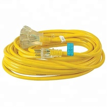 Grounded 3-Prong Wire 10 gauge extension cord with lighted ends
