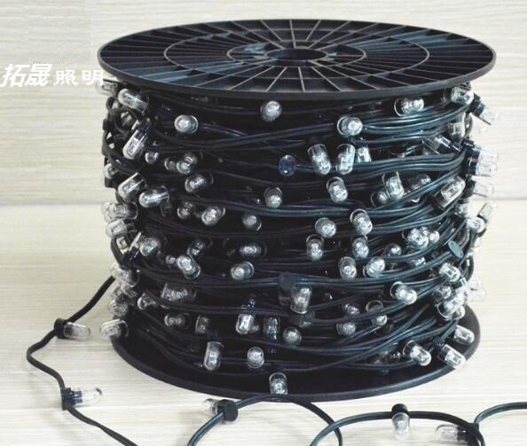 Brand 100m 12v fairy string 666 led IP67 for low voltage led clip string lights