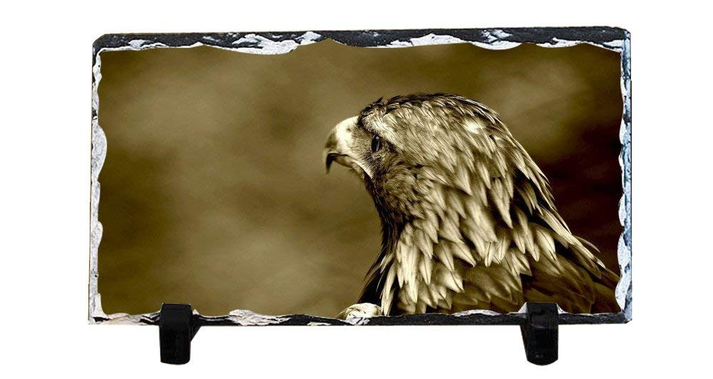 DKLZY Personalized Gifts Personalized Slate Desktop Decoration Plaque - Eagle Custom Photo Slate