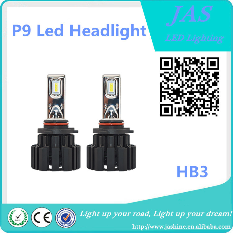 P9 high quality super bright 50W 6000K 6800LM HB3 H10 9005 auto led headlight