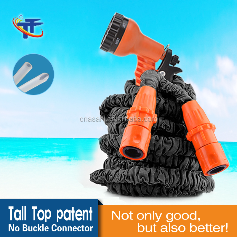 Hot Sale Expandable Garden Water Hose for Car Magic Flexible Garden Hose Pipe Set to Watering with Spray Gun Tall Top TA67050-01