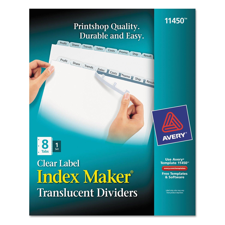 AVE11450 - Avery Index Maker Translucent Clear Label Divider