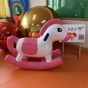 Funny kids riding animal toy air sealed inflatable rocking horse