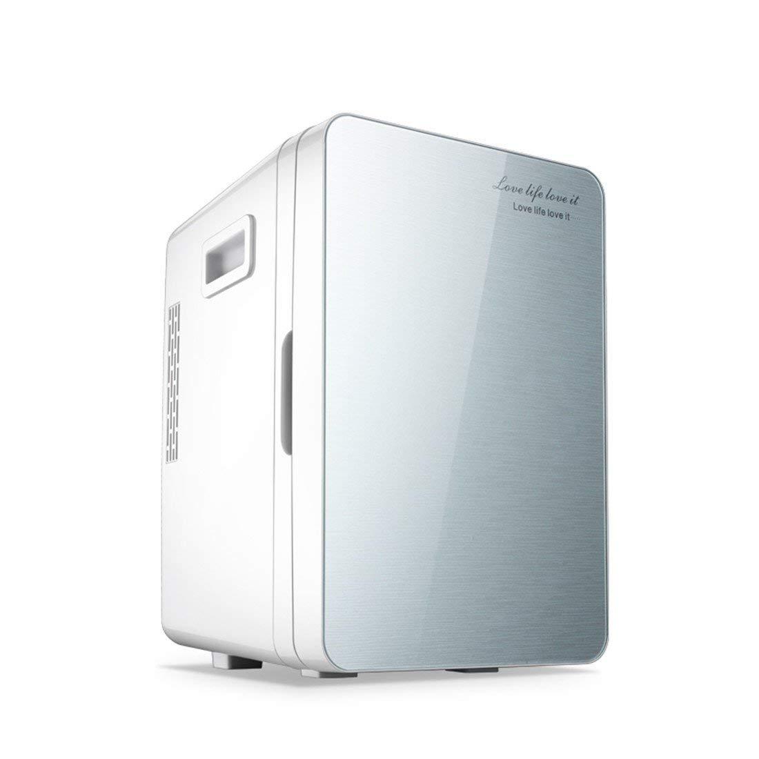 STAZSX Car refrigerator mini small refrigerator small refrigerator refrigerator car refrigerator, silver 20L-26.5X33X40cm