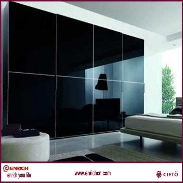New style promotion for adults intimate design clothing black glass sliding door wardrobes