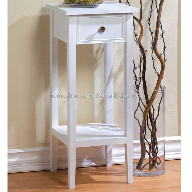 Indoor New Design Decorative White Wooden Plant Stand