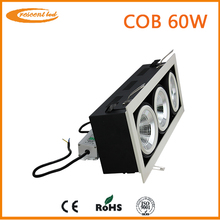 Square hot sale 60w led downlighting cob CRI80,4800-5100lm for hotel lighting dimmable Epistar led downlights vs halogen