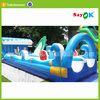 Lake inflatable water slides,gaint pvc inflatable floating water slide for sale
