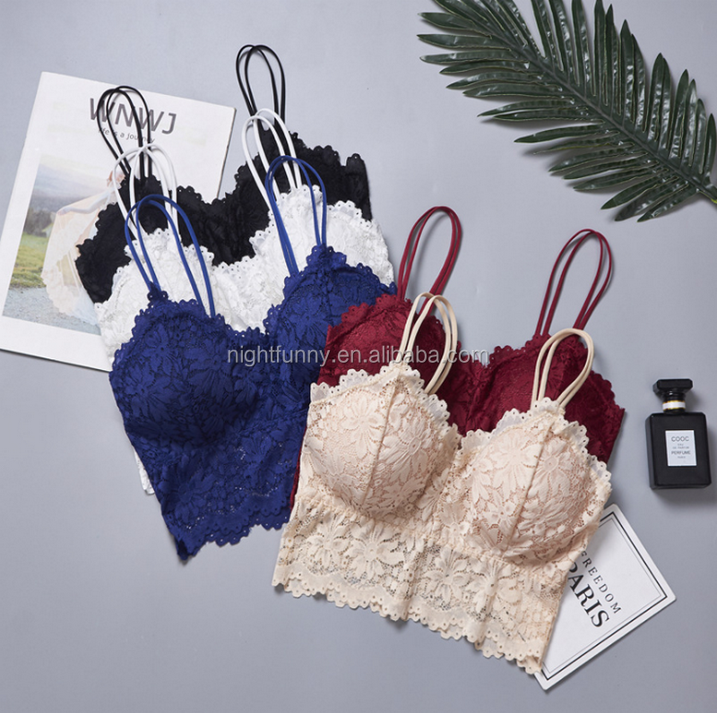 Lace Boob Tube Top,Removable Crochet Lace Padded square Neck Bralette