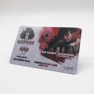RFID bus ticket card 13.56Mhz with CMYK printing