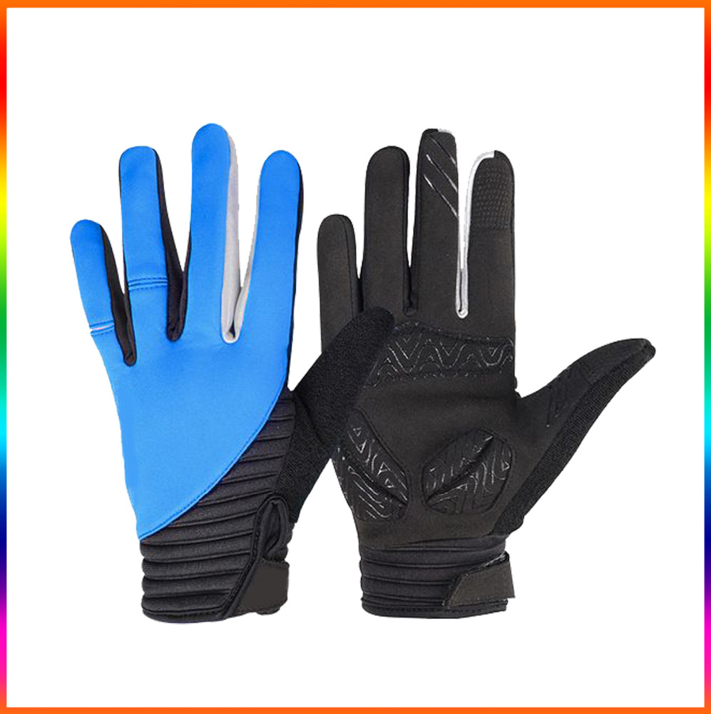 Mens Durable bicycle gloves impact resistant/ Full fingers Elastic bicycle cycling gloves /Road bike gloves EVA padded