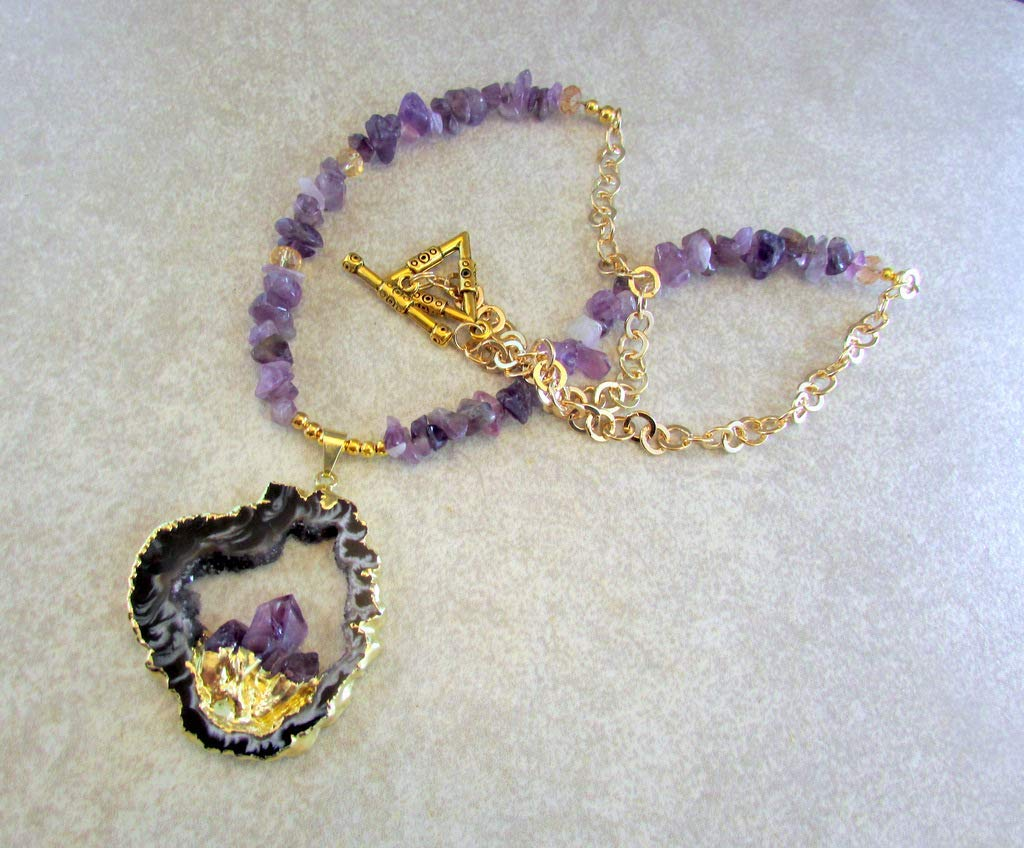 Cheap Amethyst Geode Necklace, find Amethyst Geode Necklace deals on