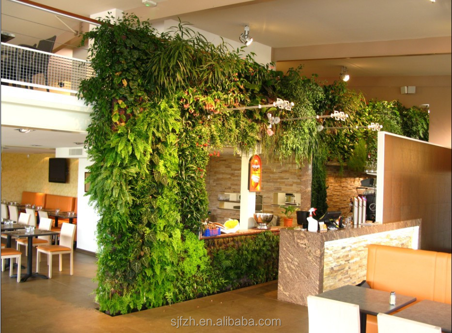 Indoor home decoration artificial climbing wall in for Artificial plants indoor decoration