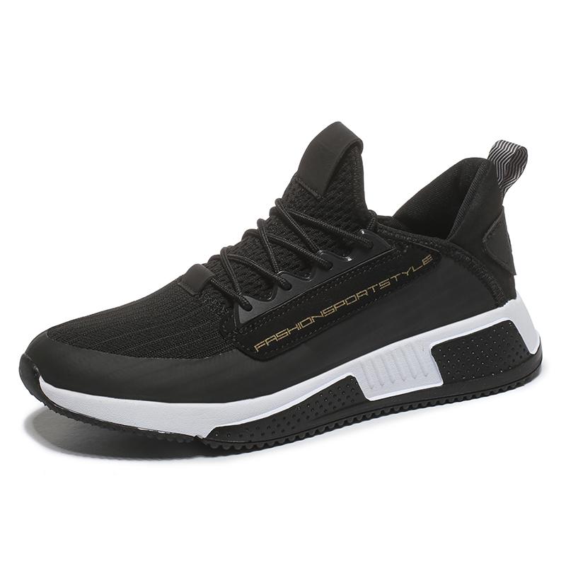 327a3bca9 Fábrica chinesa atacado personalizado moda respirável leve preto mens  sapatos de ginástica de importação ...