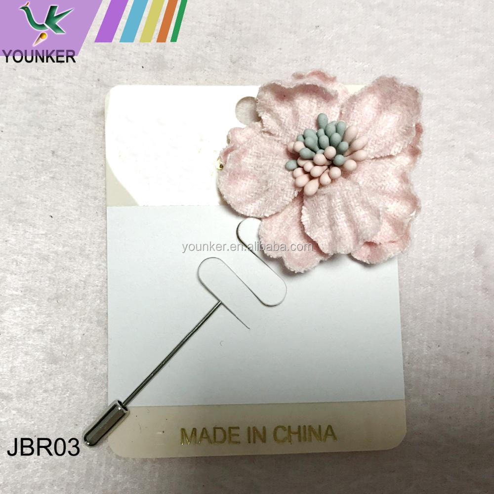 wholesale fashion many colors available classic style fabric flower brooch pin