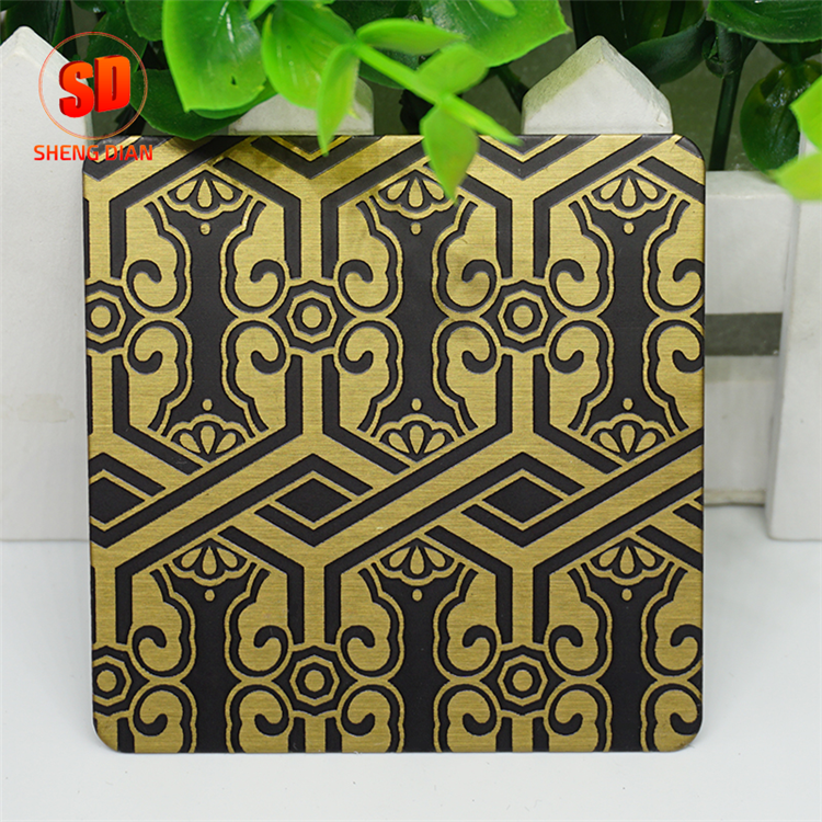 Hot Products Wall Decoration Two Color 4X8 Deep Etching Astm 316L Stainless Steel Sheet