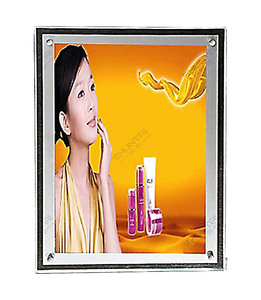 Guangzhou crystal advertising light boxes with poster material backlit crystal light box for shopping mall