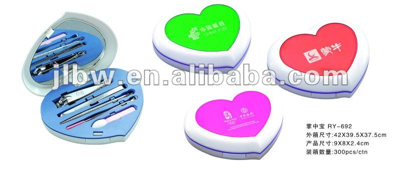 heart mould manicure products/home manicure set/ nails kits