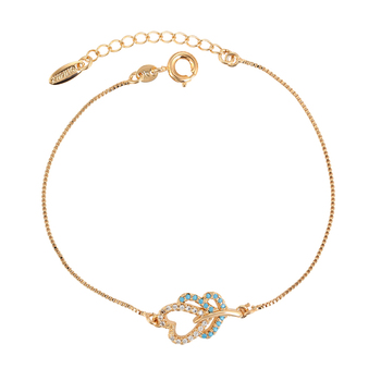 bracelet 005 xuping gold plated heart shape chain bracelet for children