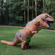 HI high quality realistic dinosaur t rex halloween inflatable costume