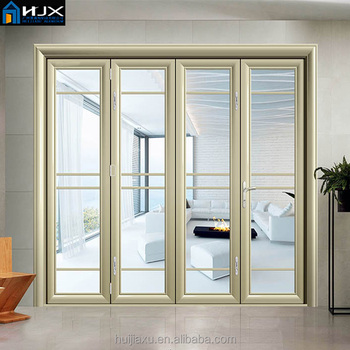 Aluminum Bi Folding Door Folding Patio Doors Folding Exterior French Doors