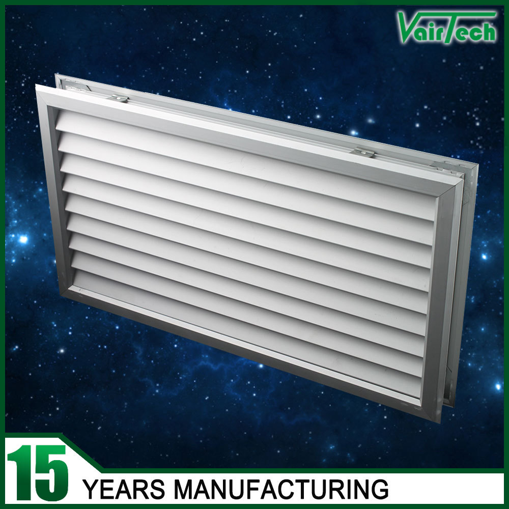 High quality aluminum ventilation fresh air one way wooden for Door ventilation design