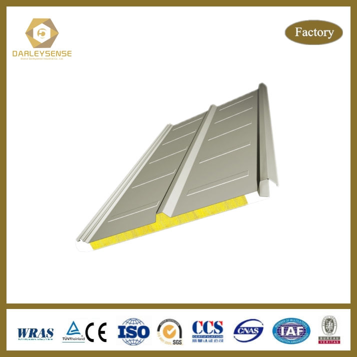 Economical Material For Big Building Workshop cold room sandwich panel Fire Prevention with SGS Certificate