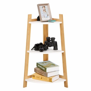Bambou Polyvalent Rangement Autostable Bibliotheque 3 Niveaux Etagere D Angle Bibliotheque D Angle Salle De Bain Douche Rayonnage Buy Bibliotheque