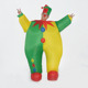 Funny adult size colorful clown inflatable costume for carnival party