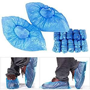Shoe Covers Disposable Shoe Covers Rain Waterproof Disposable Shoe Covers Blue Green Plastic No Odor Case Lot 100pcs
