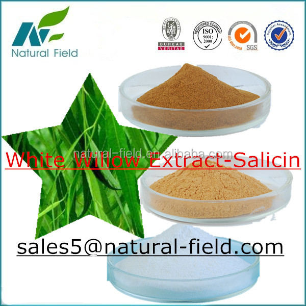 100% natural white willow bark extract salicin 98%