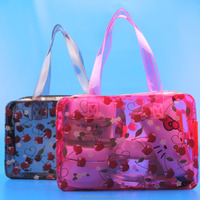 waterproof plastic travel tote handle bag with zipper