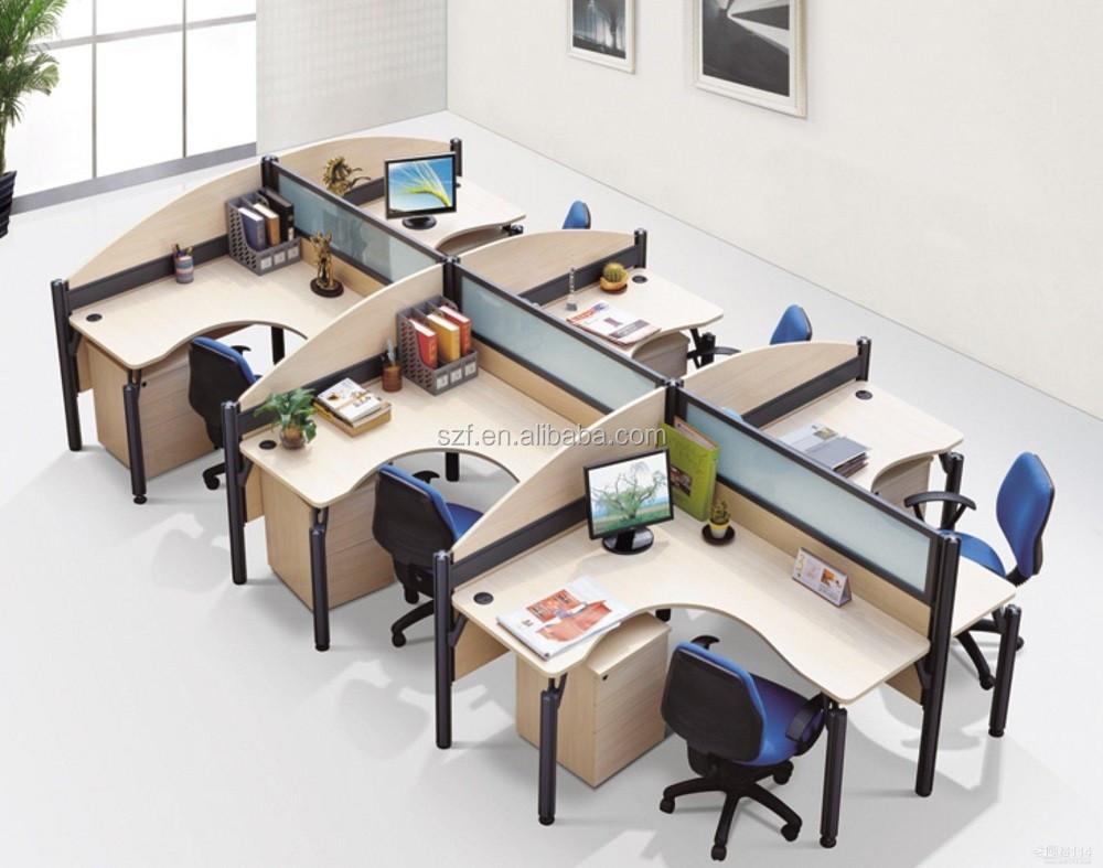 Muebles Modulares De Oficina En Forma De L Escritorio De Melamina  # Muebles Modulares Para Oficina