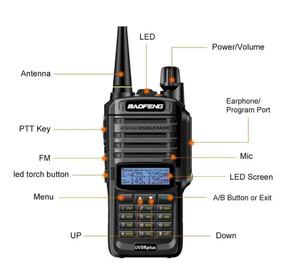 Ham radio baofeng waterproof dual band radio IP67 rugged handheld with walkie talkie 10w handy talkie baofeng uv 9r