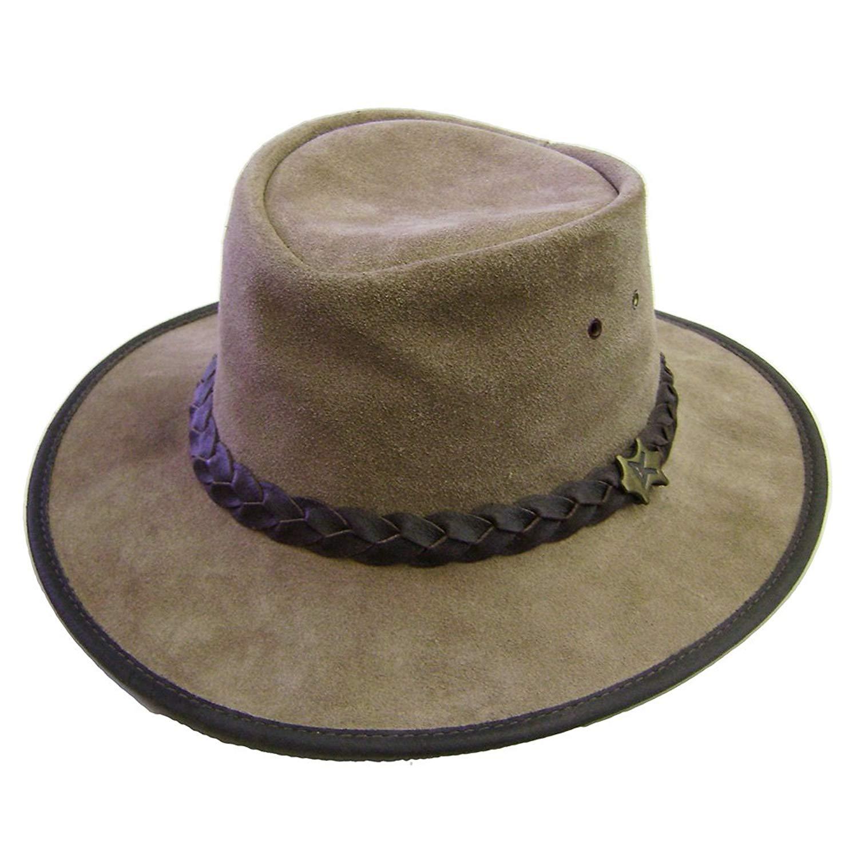 dd4b206b360e12 Get Quotations · Modestone Unisex Crushable BC Hat Australian Steer Hide  Suede Cowboy Hat