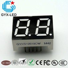 Customized common cathode blue 2 digit 2.3 inch 7 segment led display