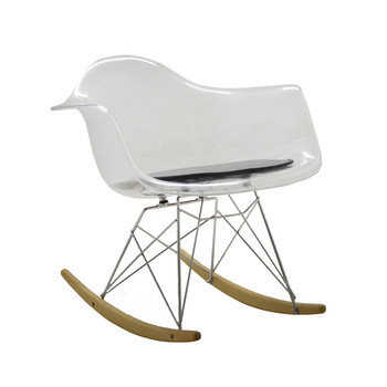 Exceptional Stylish Polycarbonate Chair With Rocking Base