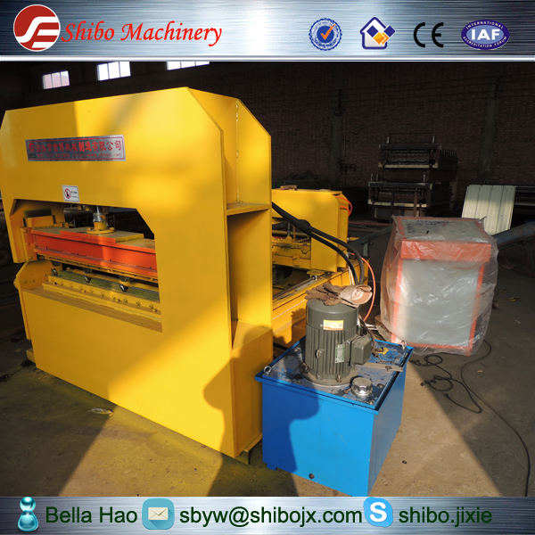 shibo factory full automatic steel roofing tile Crimping curving tile Making Machinery with good price for export