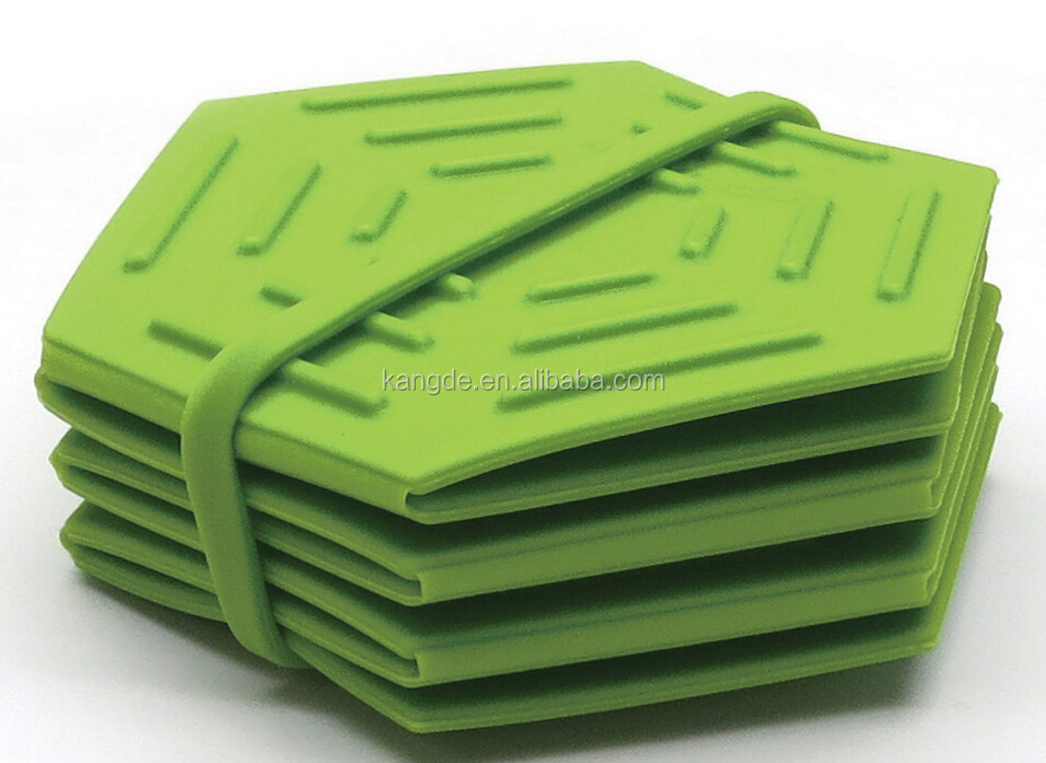 New design high quality with good price kitchen tool multi functional silicone foldable silicone trivet