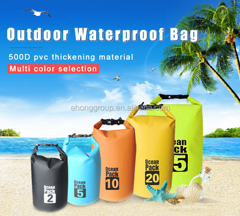 Free Sample Waterproof Camping Floating Dry Bag Backpack 2l 45l