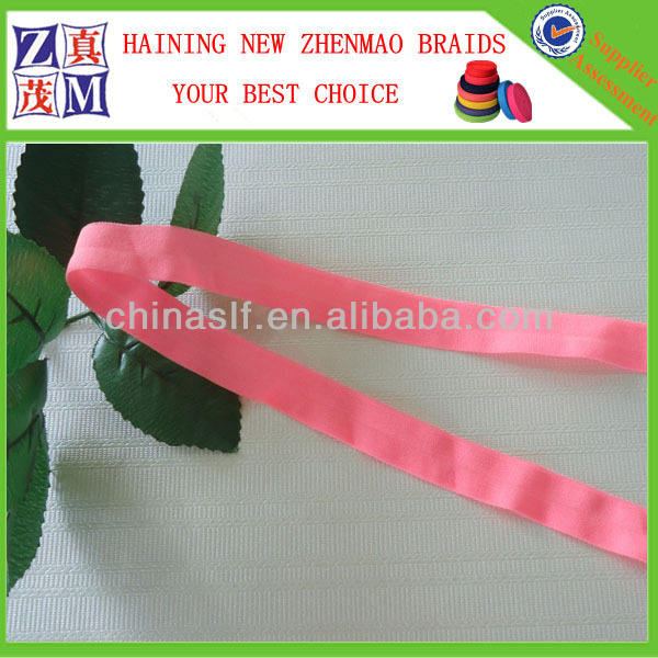 Colorful elastic foldover webbing