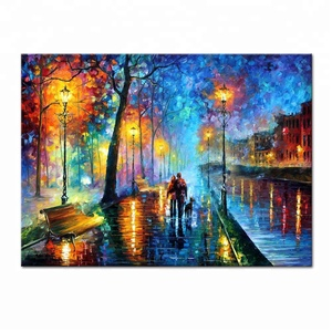 Palette Knife Lover Figures Famous Reproduction Acrylic Painting Modern Art