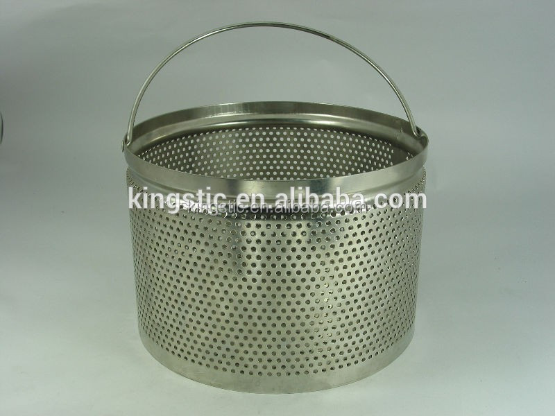 Autoclave basket/AB100/AISI304 stainless steel/3mm diam and Perforation