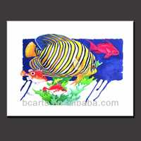 handmade tropical ocean fish oil paintings on canvas for home decoration