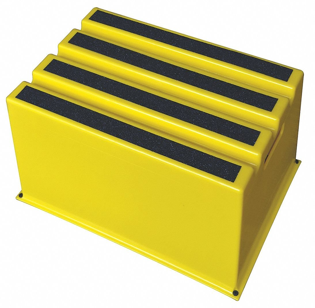 """Plastic Box Step, 12"""" Overall Height, 500 lb. Load Capacity, Number of Steps: 1"""