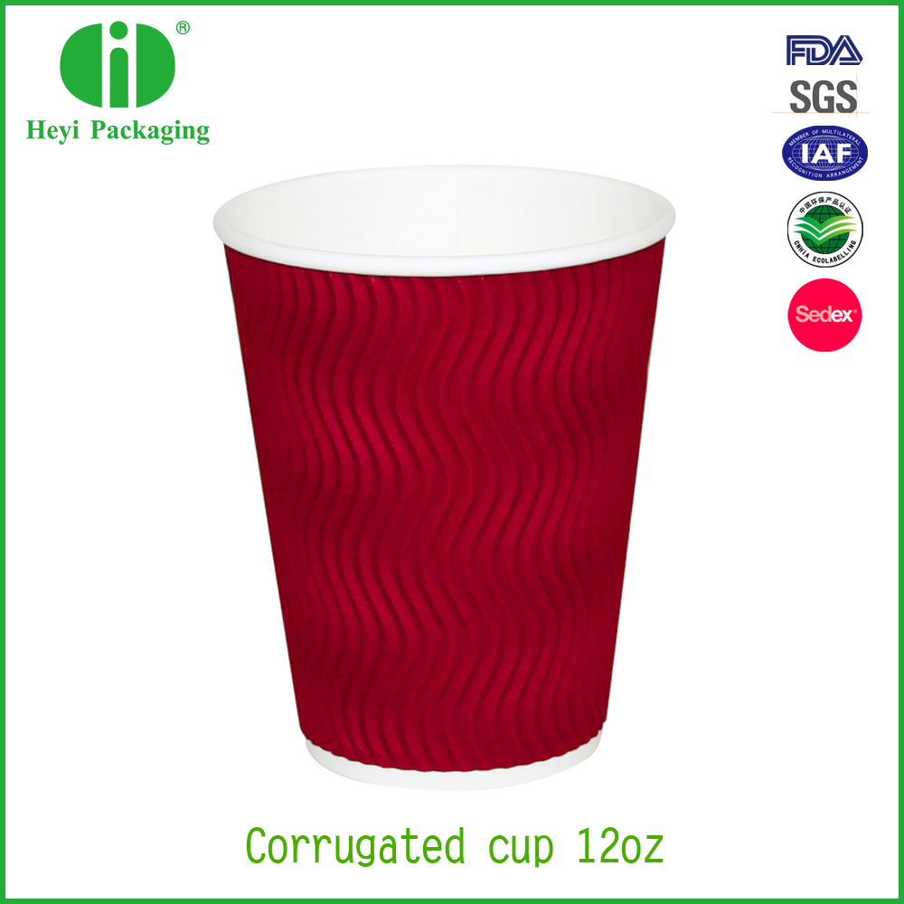 logo printed disposable ripple paper coffee cups