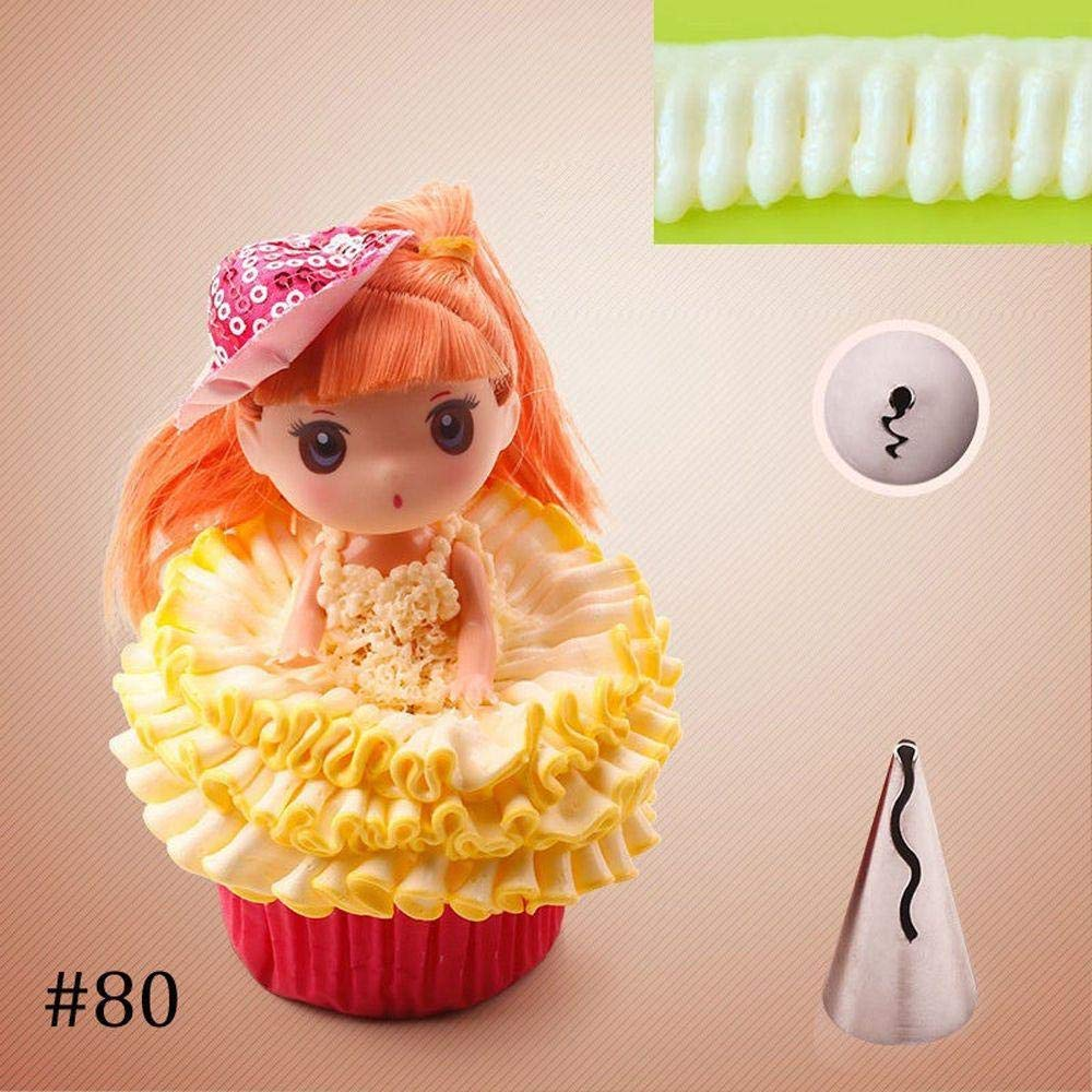 Unmengii Buttercream Puff Skirt Cake Tools Stainless Steel Cupcake Decorations Icing Piping Nozzles Pastry Decorating Tips