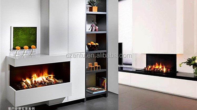 3D Steam flame style selections white cambridge electric fireplace